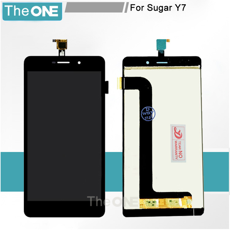 5.5 Black LCD+TP for Sugar Y7 LCD Display+Touch Screen Digitizer Assembly Smartphone Replace Separate Part Free Shipping pl50 lcd