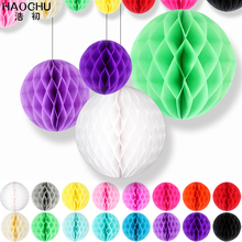 HAOCHU 4pcs Wedding Ideas Gift Festive Party Celebration Supplies Paper Honeycomb Ball New Year Baby Shower
