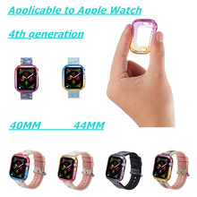 Slim Watch Cover Soft Silicone Case For Apple 40/44mm Color TPU Collision Shock Protection Iwatch 4