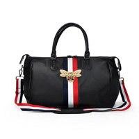 Brand Travel Bags WaterProof Large Capacity Hand Luggage Traveling Bee Bag Fashion Women Weekend Travel Duffle Bag Handbags 2018