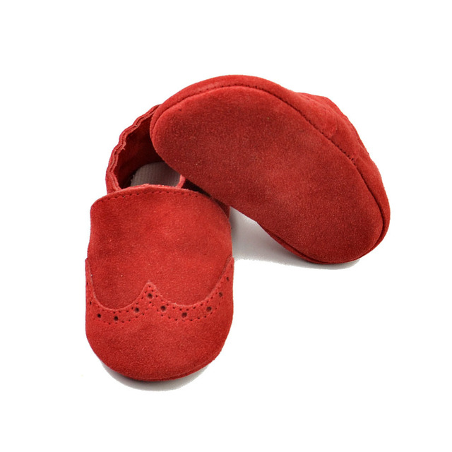 Handmade First Walkers Genuine Leather baby shoes Toddler suede baby moccasins elastic boys girls Shoes Free shipping