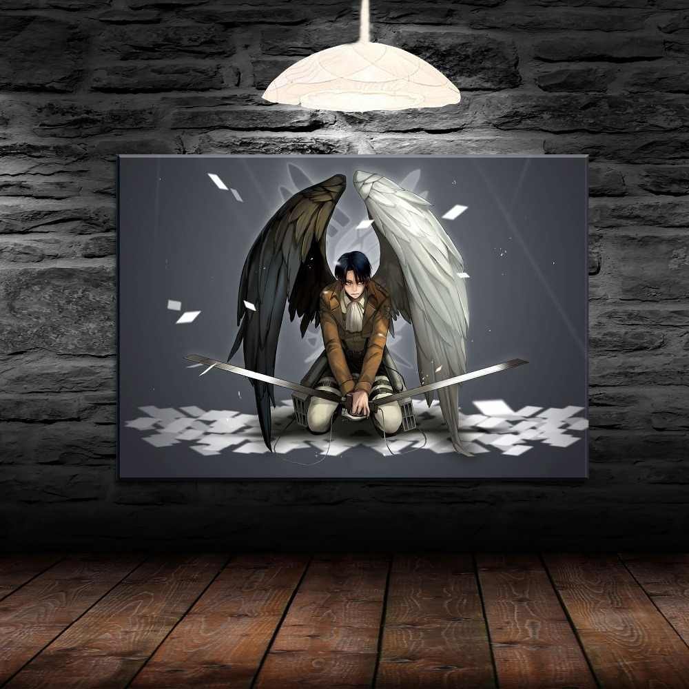 Modern Canvas Painting Home Decor HD Print 1 Pieces Anime Attack on Titan Poster For Living Room Wall Art Levi Ackerman Picture