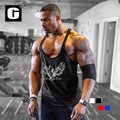 New gold men tank top shirt bodybuilding clothing mens gyms stringer sporting tanktops fitness men singlets muscle vest