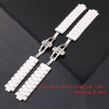 Al por mayor y al por menor de calidad Superior del envío libre venda de reloj AR1410 Black19mm AR1421 accesorios correas de reloj de cerámica Blanco 22mm