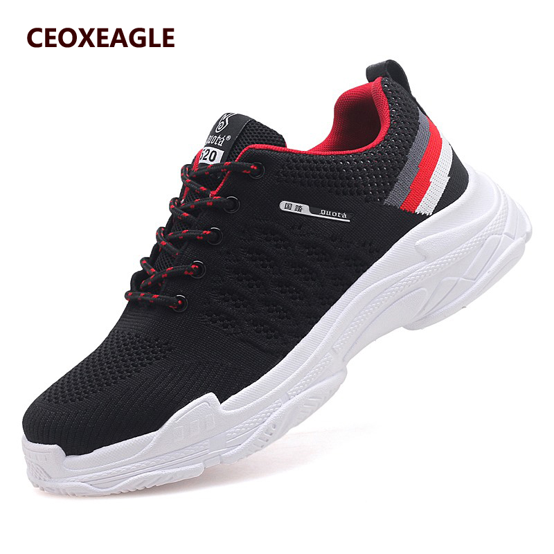 Air red Mâle Zapatos black Black Tissé Lumière Sapatos Casual Hommes Respirant Sneakers red Hombre Masculino Chaussures grey red Plein Douce En Tenis wwTqg7I