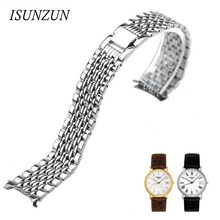 ISUNZUN Watch Band For Men And Women For Tissot 1853 Series T52 Steel Strap T55 T870