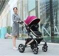GS CCC cerficated Carrinho de Bebê de Alta Qualidade 5 Cores Novo nascido Pode Usar Carrinho de RU Frete na venda tampa do pé livre