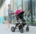 GS CCC cerficated High Quality Baby Stroller 5 Colors New Born Can Use Stroller RU Free on sale leg cover free