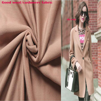 Good Quality Lt. Camel Wool Fabric Imported Thick Cashmere Fabric Sewing Material DIY Winter Women Casual Coat&Suit Wide 150cm