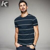 2017 Summer Mens Fashion T Shirts 100 Cotton Striped Blue Color Brand Clothing Man S Short