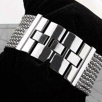 2018 Новая мода сплав серебро Группа Кварцевые Wtach Роскошные для женщин горный хрусталь браслет часы платье дамы наручные 6T4T