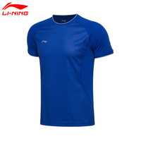Li Ning 2017 NEW Man S Short Sleeve T Shirt Quick Dry Breathable Badminton Shirt AAYM037