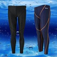 Uomini Corsa Nuoto Classico Costumi Da Bagno Da Surf pantaloni professionali pelle di squalo nuotare tronchi Lunghi Costume Da Bagno idrorepellente Pantaloni immersioni