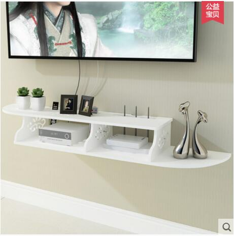 TV wall set top box router receives the living room bedroom wall shelves