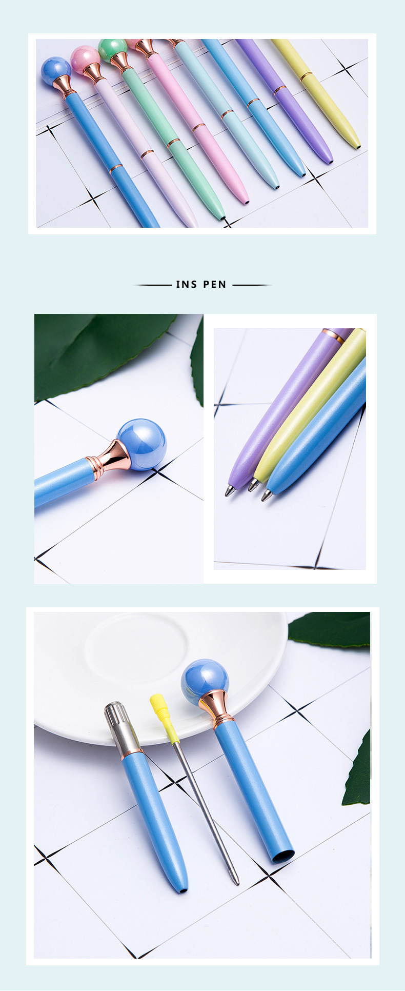 Large Pearl New Crystal Ballpoint Pen Fashion Girl Kawaii Metal Diagram 9036406220 1399852192 9036409498 9036634889 9036364810 9015687320 9015696100