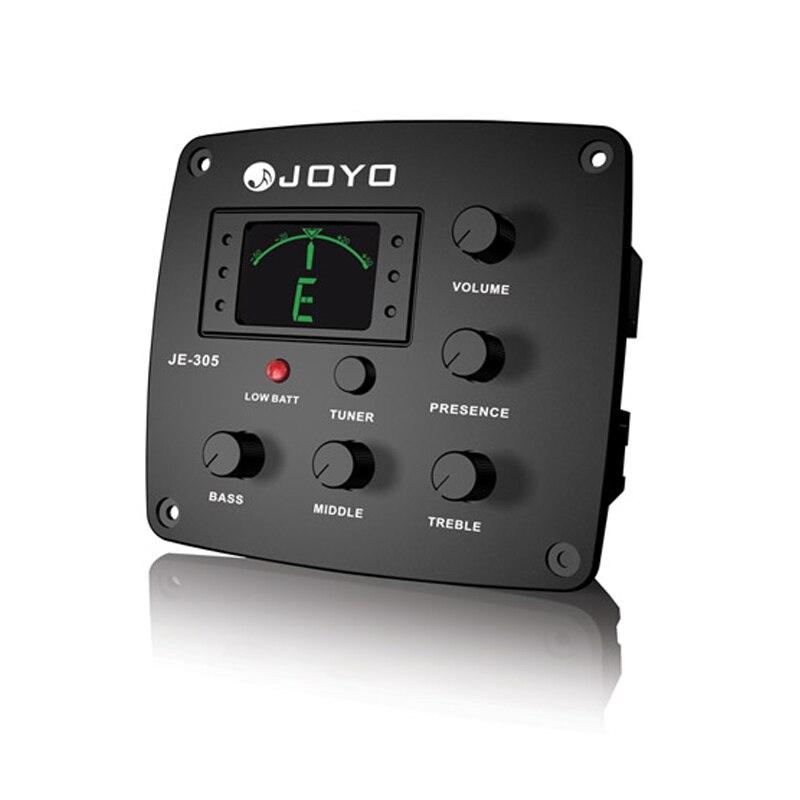 JOYO JE-305 4 bandes égaliseur EQ avec accordeur guitare basse moyenne aigus Presto captador batterie faible lumière livraison gratuite