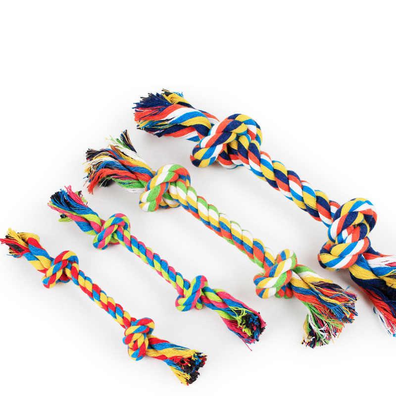 1 pcs สัตว์เลี้ยงสุนัขสัตว์เลี้ยงสุนัขลูกสุนัขเคี้ยวเคี้ยวของเล่นทนทาน Braided Bone เชือก 15 ซม. เครื่องมือ (สีสุ่ม)