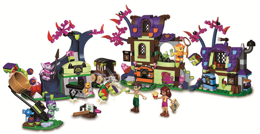 Elves Magic Rescue from the Goblin Village BELA Friends Building Blocks Sets Brick Classic Girl Kids Model Toys Compatible Legoe the rescue