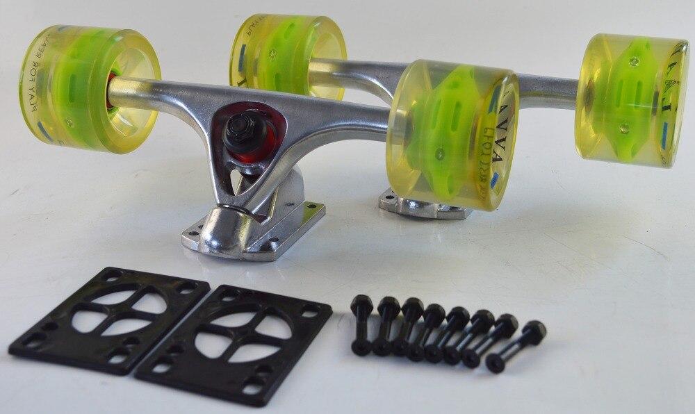 Timed specials skateboard longboard 7051 wheels & 7'trucks & screws & ABEC-9 bearings combo for promotional free shipping цены онлайн