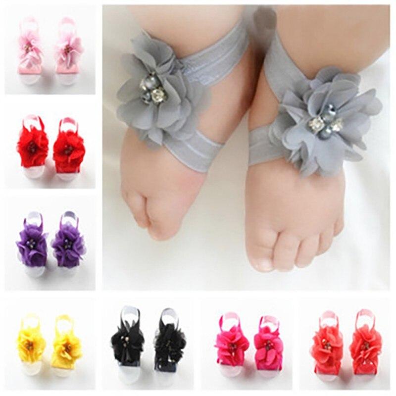 Baby Girl Headband Infant Hair Accessories Foot Bows Newborn Headwear Tiara Headwrap Floral Gift Toddlers Bandage Ribbon Flower