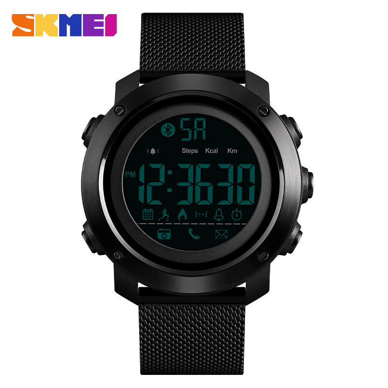 SKMEI Smart Bluetooth Watch Hidden Clasp Multi function Call Message Reminder Fitness Tracker Fashion Simple Outdoor
