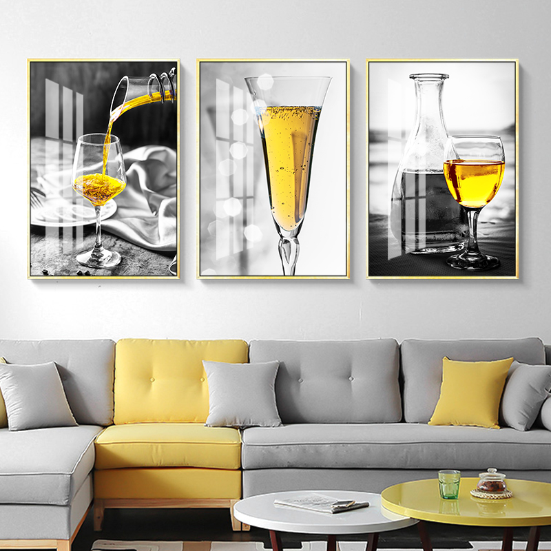 Северный плакат черный и белый винный стеклянный Настенный Художественная печать на холсте картина ликер настенные картины для гостиной современный домашний декор