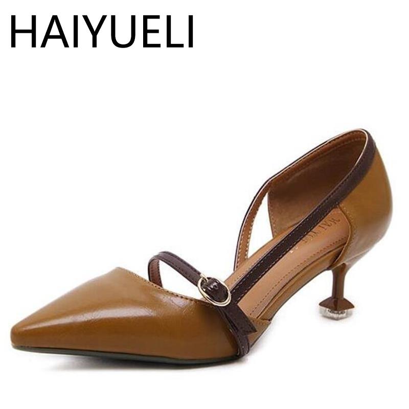 HAIYUELI Platform Pump 2017 Summer High Heels Sandals Fashion Women Stiletto Shoes Roman Style Shallow Mouth Tip Toe Woman Shoes phyanic 2017 gladiator sandals gold silver shoes woman summer platform wedges glitters creepers casual women shoes phy3323