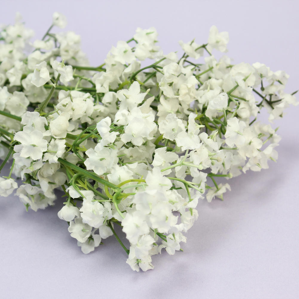 6pcs white plastic artificial flower floral plant gypsophila baby 6pcs white plastic artificial flower floral plant gypsophila baby breath bouquet home office wedding party decoration supplies in artificial dried flowers izmirmasajfo
