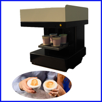 Commercial 4 cups for one time WIFI coffee printer selfie coffee printer making machine