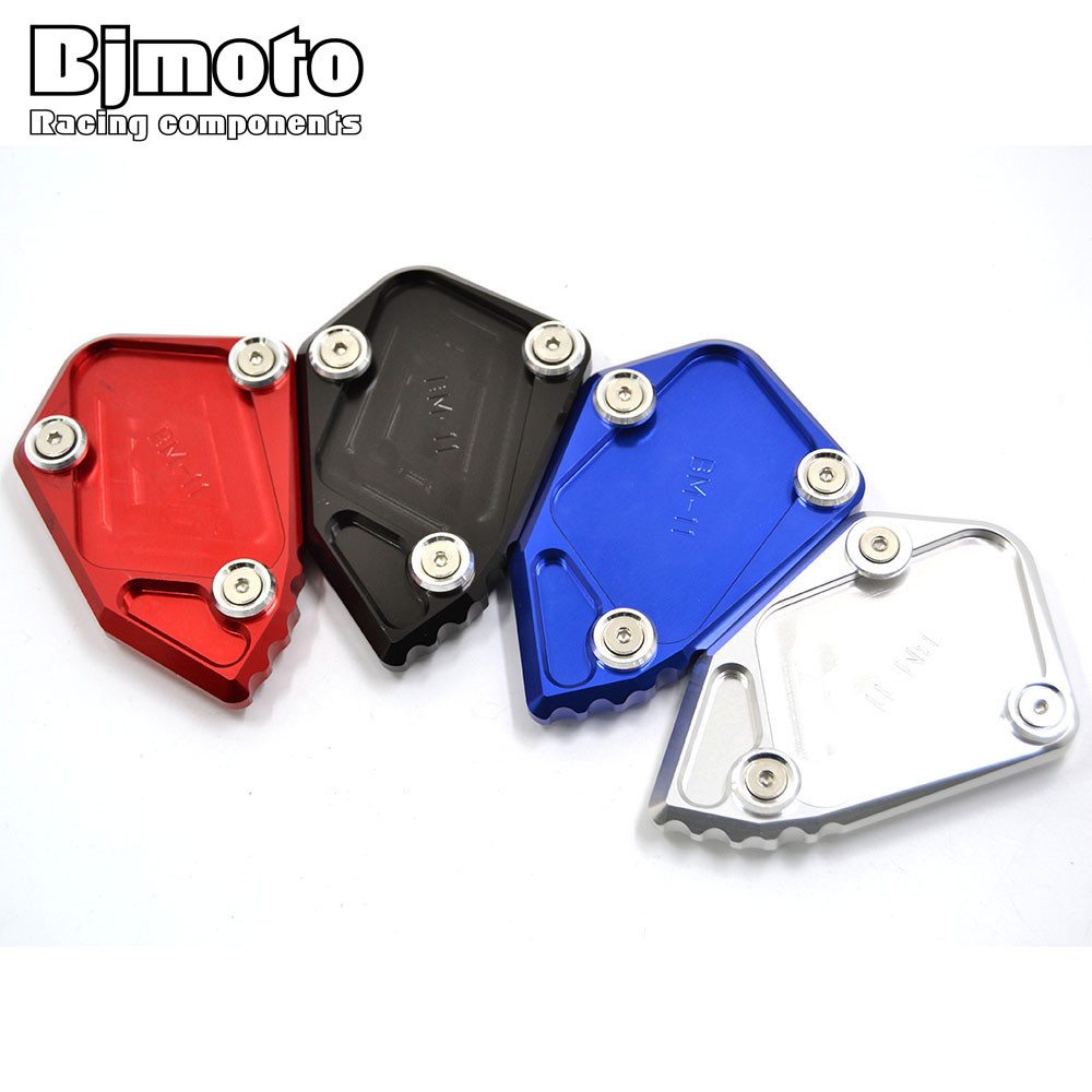 Bjmoto For BMW R1200GS R1200 /ADV Aluminum Motorcycle  Kickstand Side Stand Enlarger Plate Extension Pad for bmw f800r 2009 2012 2013 2014 hp2 08 motorcycle cnc aluminum side stand enlarger cnc kickstand pate pad side stand enlarger