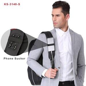 Image 2 - Kingson متعددة الوظائف USB شحن 15 17 بوصة محمول النساء حقائب الظهر موضة الإناث Mochila حقيبة السفر مكافحة سرقة