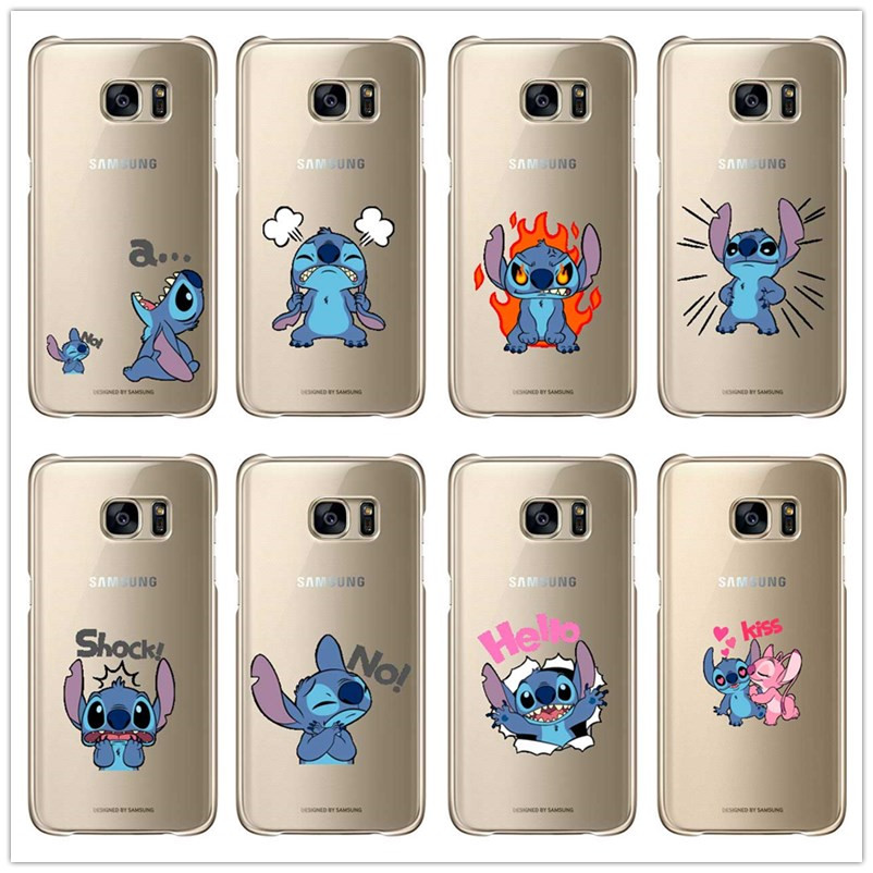 Cartoon stitch cute Case for Samsung Galaxy A3 A5 A7 J1 J5 J7 2015/2016 hard plastic Phone Case Cover