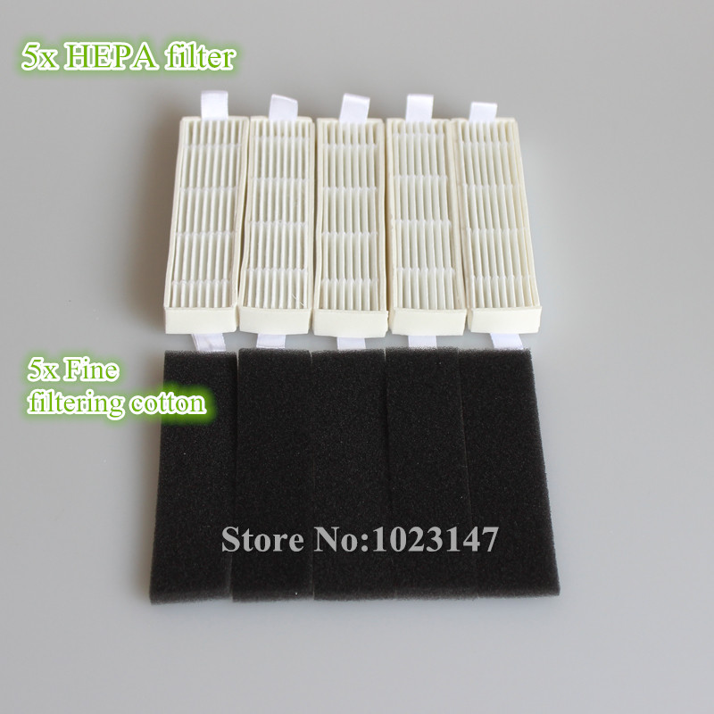 5x Ecovacs HEPA Filter and 5x Fine filtration Cotton Replacement for D36A TEK TCR-S TCR-S2 TCR660 M1 5x ecovacs hepa filter and 5x fine filtration cotton replacement for d36a tek tcr s tcr s2 tcr660 m1
