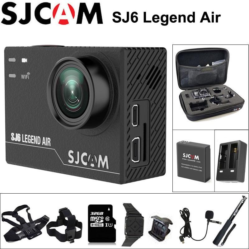 SJCAM SJ6 LEGEND Air Action Camera 4K 24fps Ultra HD Remote Notavek 96660 Waterproof Sports DV 2.0 Touch Screen Car DVR SJ Cam sjcam sj6 legend wifi action camera notavek 96660 ultra hd 4k 24fps 1080p waterproof 2 0 touch screen remote sports dv kamera