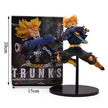20cm Dragon Ball Z BWFC Super Saiyan Trunks Figure PVC Action Figure Model Dragonball Trunks Kids Toys With Box цена 2017