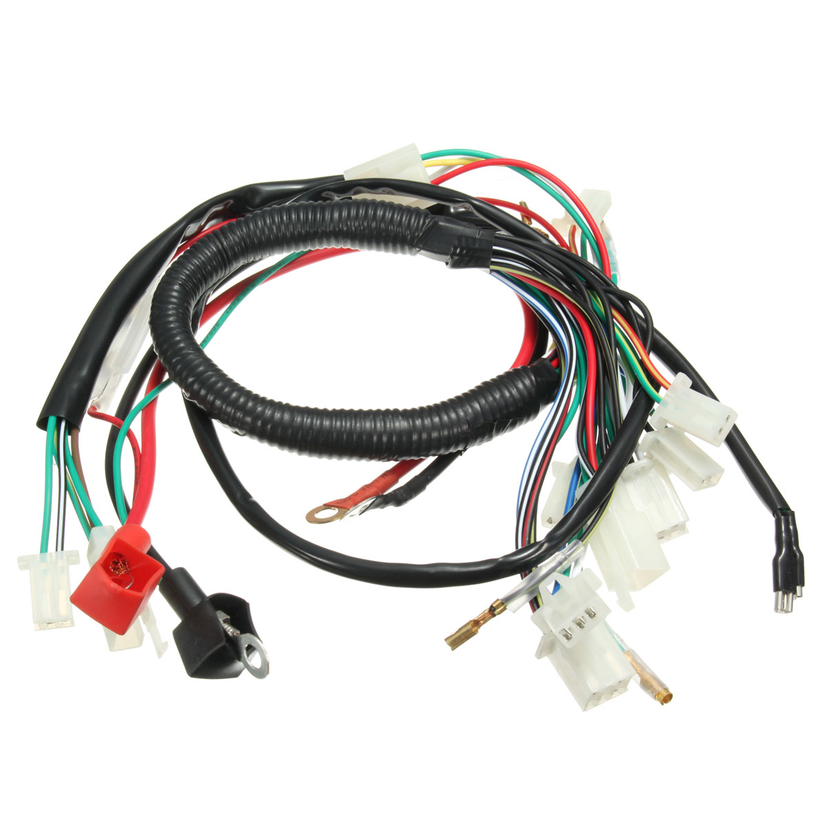 wiring harness machine electric start wiring loom harness pit bike atv quads 50cc 70cc 90cc