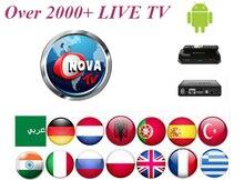 1Month Nova TV Arabic IPTV subscription+Android IPTV Italy Portugal UK Germany France Belgium smart tv Support 2000+Channels
