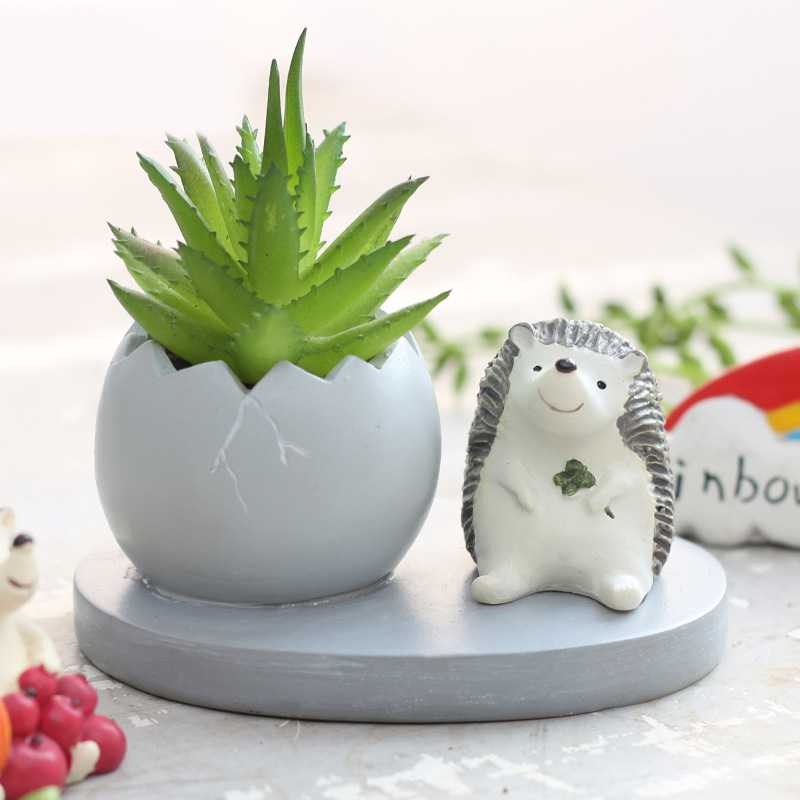 Creative Resin Flowerpot Animal shaped Succulent Plants Nursery Pots Ornament Home furnishings Garden Bonsai Decor