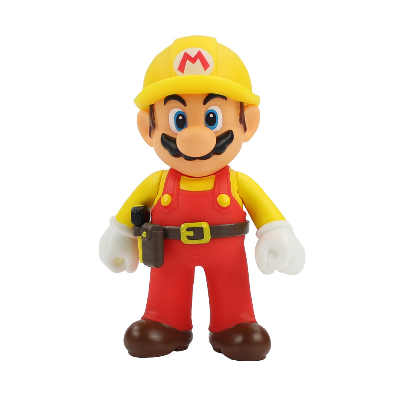 13cm The Repairman Mario Vinyl Figure Toys Super Mario Bro PVC Action Figure Toys Doll Brinquedos Kids Birthday Gifts 1