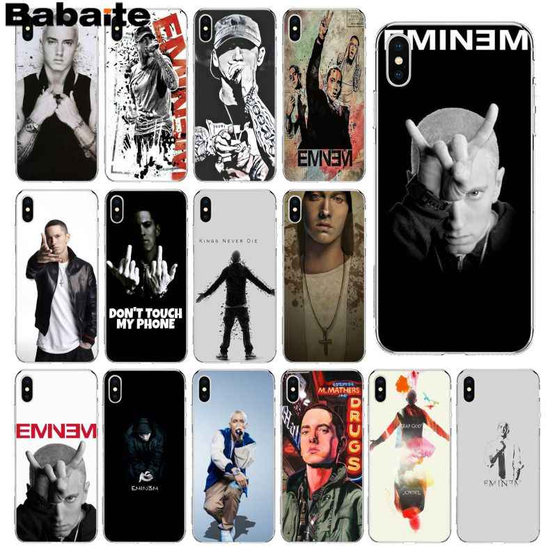 3aa9006a0a Babaite Eminem Novelty Fundas Phone Case Cover for Apple iPhone 8 7 6 6S  Plus X