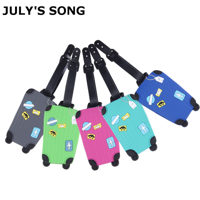 JULY'S SONG Travel Luggage Tag Cover Creative Accessories Suitcase ID Address Holder Letter Baggage Boarding Tags Portable Label