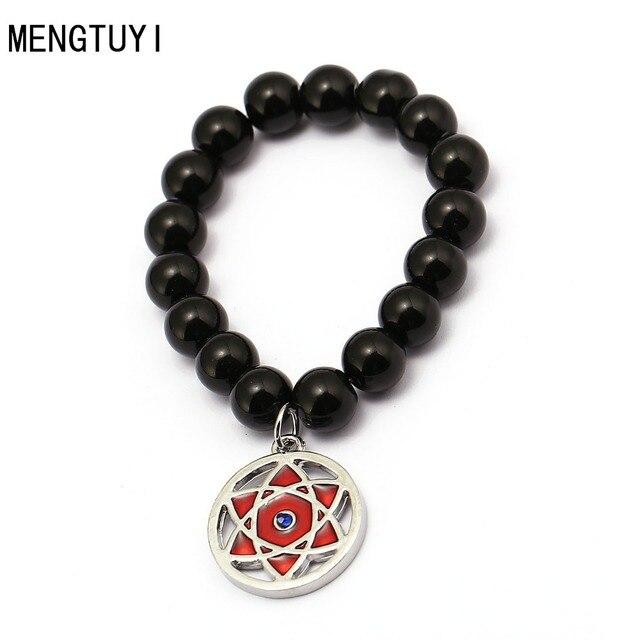 Anime Jewelry Naruto Sharingan Beads Bracelets Chain Charm Bangle Gift
