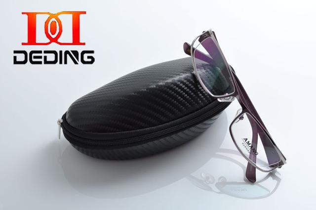 Deding мода женщин новинка высокое качество прочной нержавеющей стали очки рамки отсутствие деформации óculos де грау DD1093