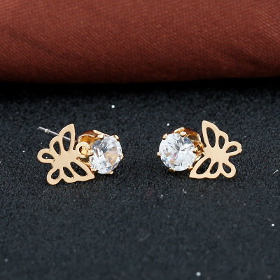 Creative personality bowknot women stud earrings outside Europe and the United States delicate and fashion accessories in Stud Earrings from Jewelry Accessories