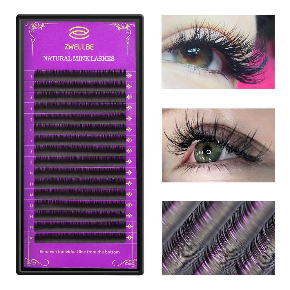 bb7fa6c726a zwellbe 16Rows/Case JBCD Curl Eyelashes Extension Cilia 8-15 mm Lashes  Extension for