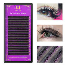 0944fefd3b5 zwellbe 16Rows/Case JBCD Curl Eyelashes Extension Cilia 8-15 mm Lashes  Extension for Faux Mink Individual Eyelash Extension