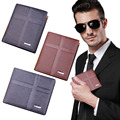 DBLO Men's Short PU Leather Multifunctional Cross Pattern Designed Wallets Money Card Holder Wallet 2016 Hot Sale