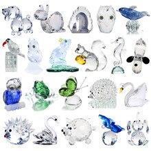 H& D 21 стиль хрустальные фигурки животных Коллекция огранки стекло орнамент статуя животных коллекционный подарок домашний декор Свадебные сувениры