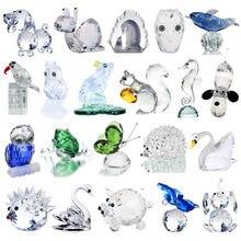 H & D 18 Stijlen Kristallen Beeldjes Collection Cut Glas Ornament Standbeeld Dier Collectible Gift Home Decor Bruiloft Gunsten
