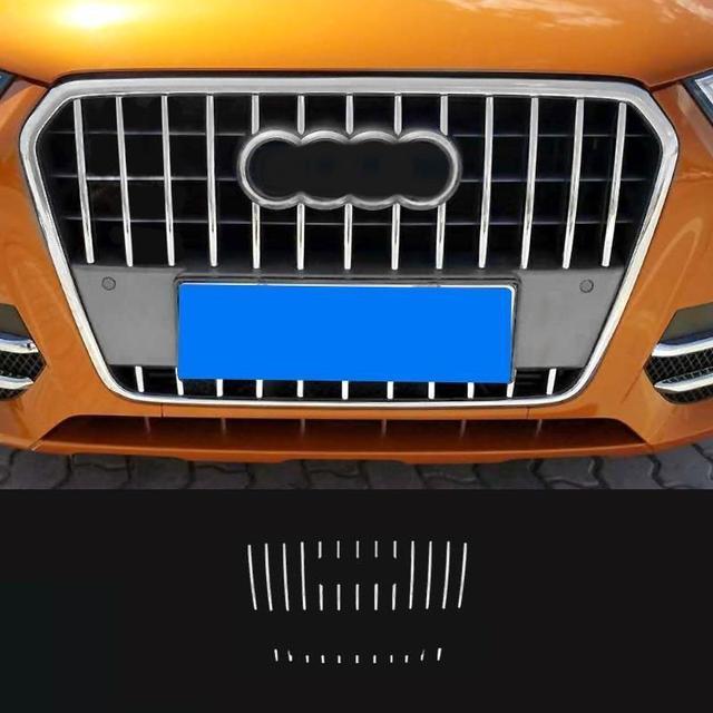 Front Bumper Grille automobile decorative car styling sticker strip decoration accessories bright sequins 13 14 15 FOR Audi Q3